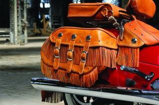 Saddlebag with fringe
