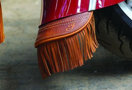 Mud flap with fringe