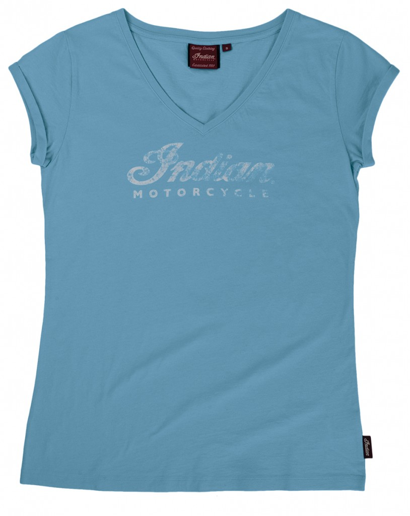 2863757-Pale Blue Logo V-Neck Tee