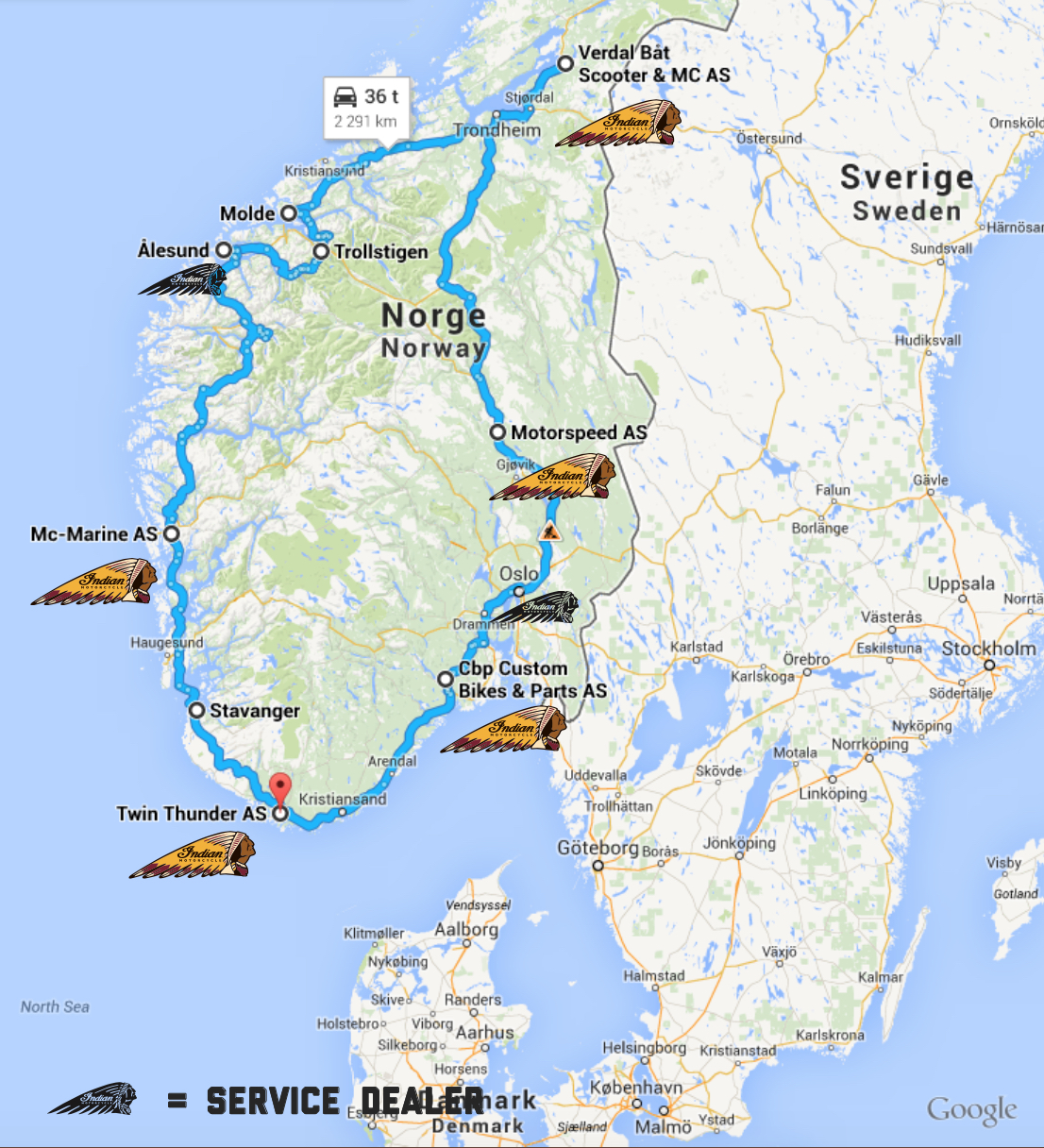 Tour Of Norway  Route