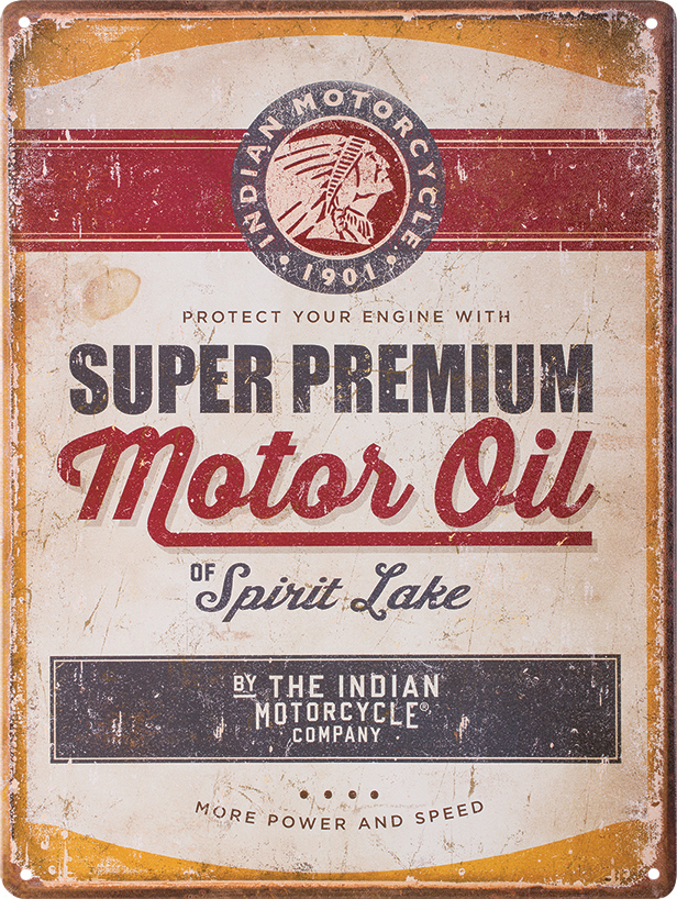 2863974 Motorcycle Oil Sign