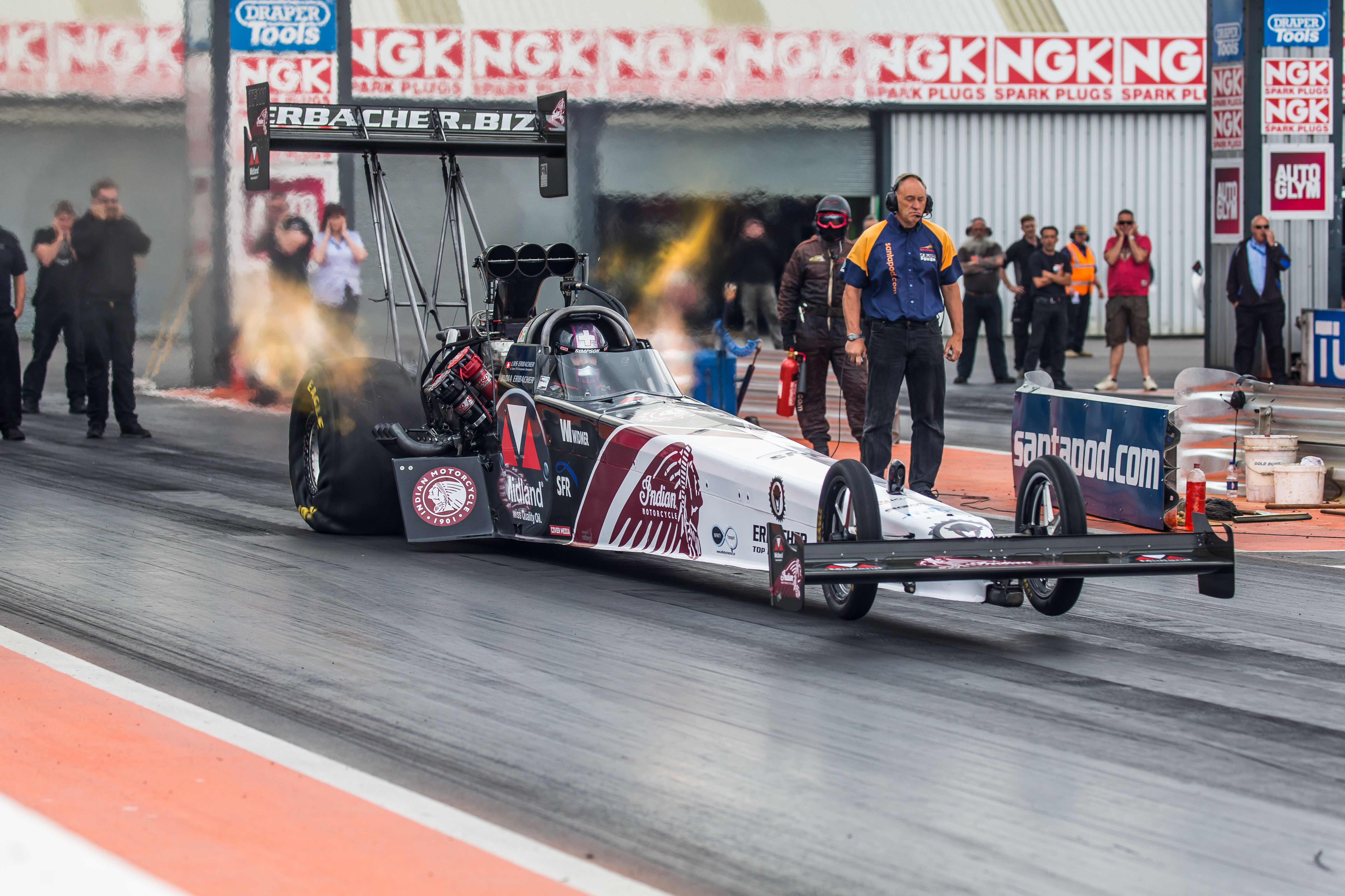 11 000hp Indian sponsored dragster to race this weekend at
