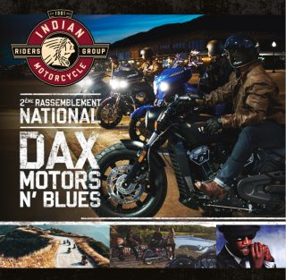 Ride with Indian owners to the Dax Motors n' Blues festival